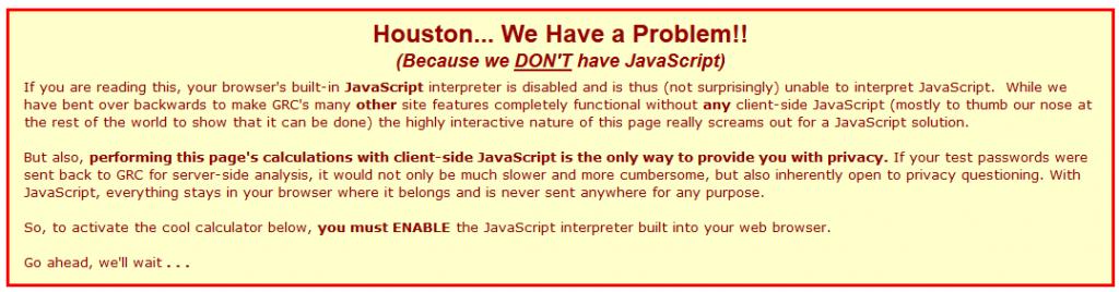 no-javascript